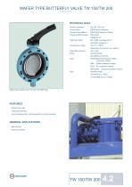 Technical Datasheet TW150 - TW200 Valve EBRO