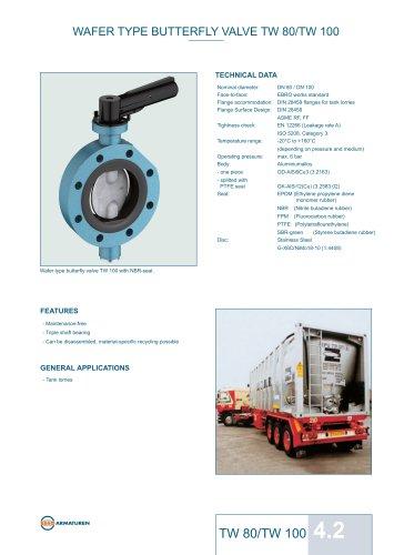 Technical Datasheet TW80 - TW100 Valve EBRO