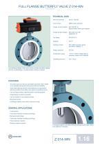 Technical Datasheet Z 014-WN Valve EBRO