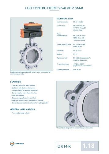 Technical Datasheet Z 614-K Valve EBRO