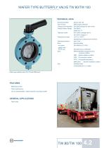 WAFER TYPE BUTTERFLY VALVE TW 80/TW 100