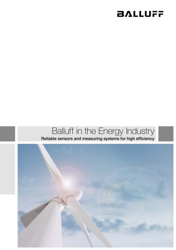 Balluff in the Energy Industry