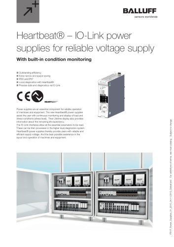 Heartbeat® – IO-Link power supplies for reliable voltage supply