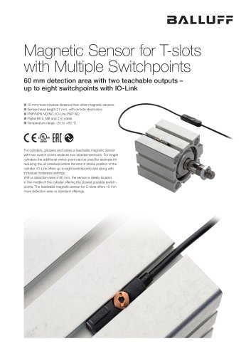 Magnetic Sensor for T-slots with Multiple Switchpoints