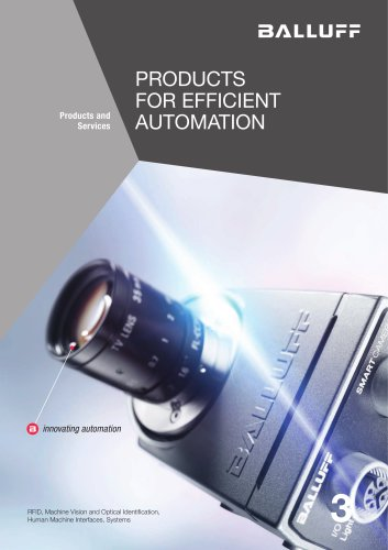 PRODUCTS FOR EFFICIENT AUTOMATION volume 3