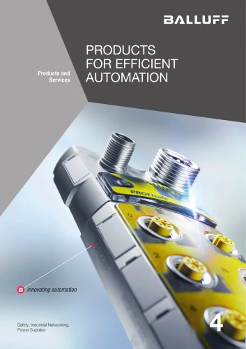 PRODUCTS FOR EFFICIENT AUTOMATION volume 4