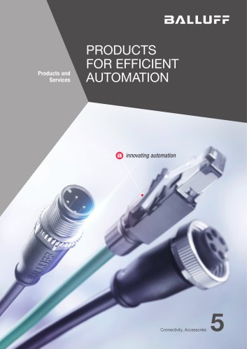 PRODUCTS FOR EFFICIENT AUTOMATION volume 5