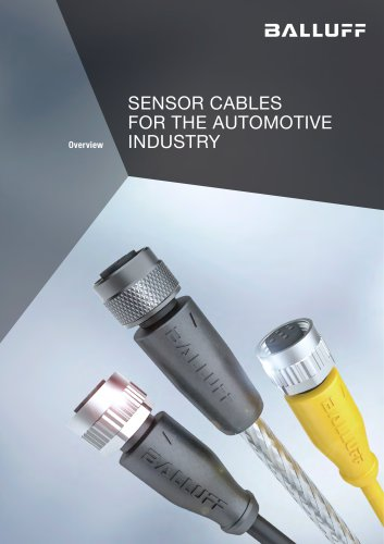 SENSOR CABLES FOR THE AUTOMOTIVE INDUSTRY