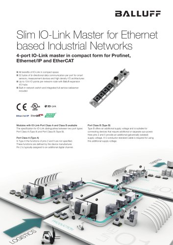 Slim IO-Link Master for Ethernet based Industrial Networks