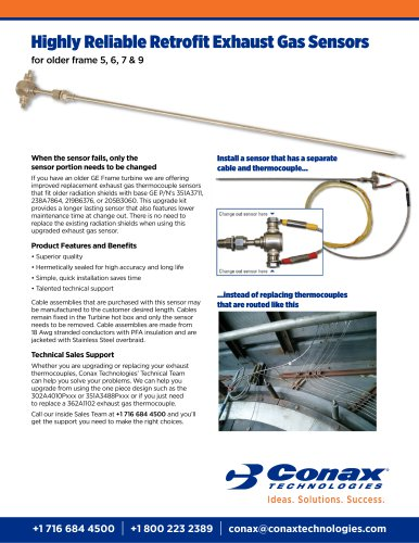 Highly Reliable Retrofit Exhaust Gas Sensors for older frames 5, 6, 7 & 9