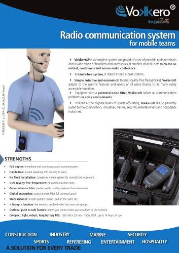 Radio communication system for mobile teams - EVO3