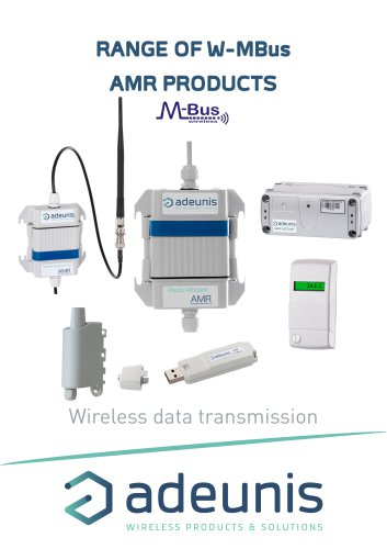 RANGE OF W-MBus AMR PRODUCTS