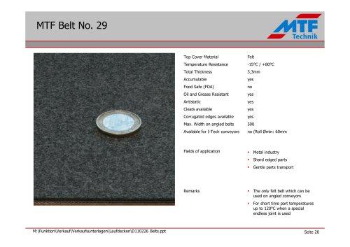 MTF Belt No. 29