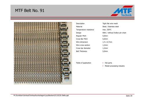 MTF Belt No. 91