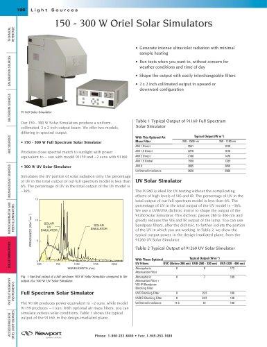 150 - 300 W Solar Simulators