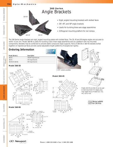 360 Series Angle Brackets