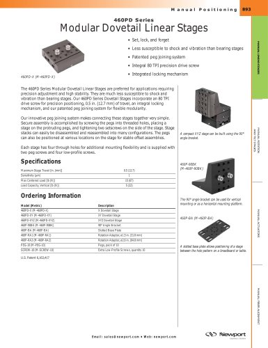460PD Series Modular Dovetail Linear Stages