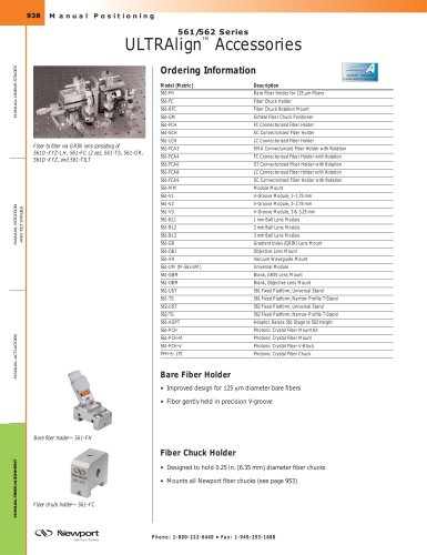 561/562 Series ULTRAlign™ Accessories