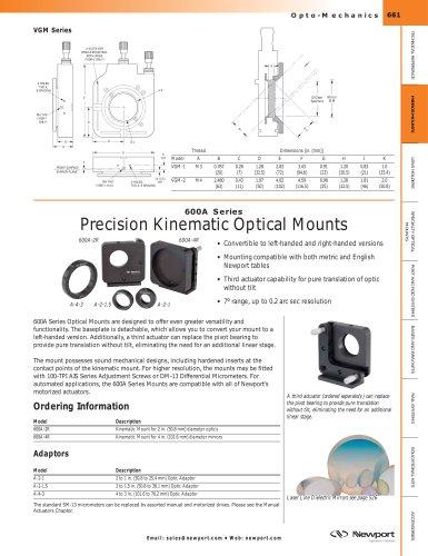 600A Series Heavy-Duty Configurable Optical Mounts
