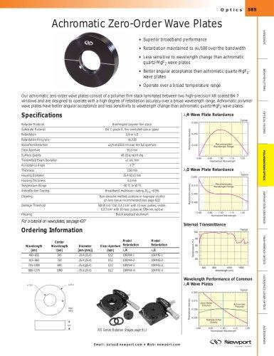 Achromatic Zero-Order Wave Plates