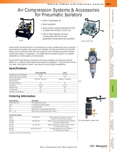 Air Compression Systems & Accessories for Pneumatic Isolators