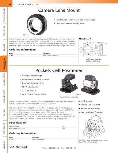 Camera Lens Mount, Pockels Cell Positioner