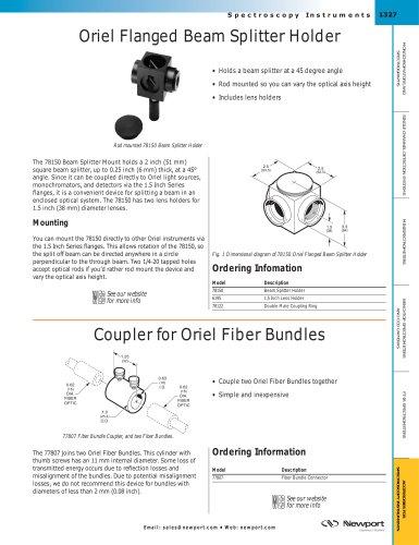 Coupler for Oriel Fiber Bundles