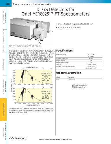 DTGS Detectors for Oriel MIR8025™ FT Spectrometers