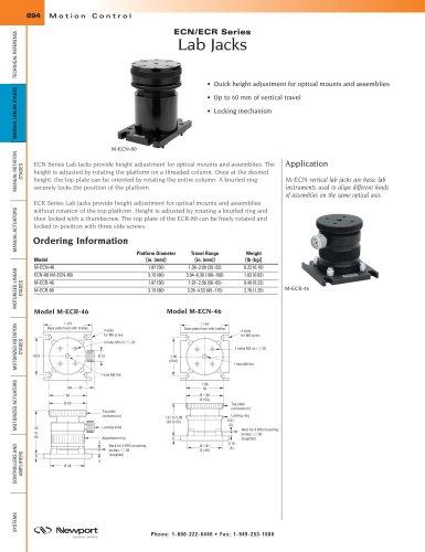 ECN/ECR Series Lab Jacks
