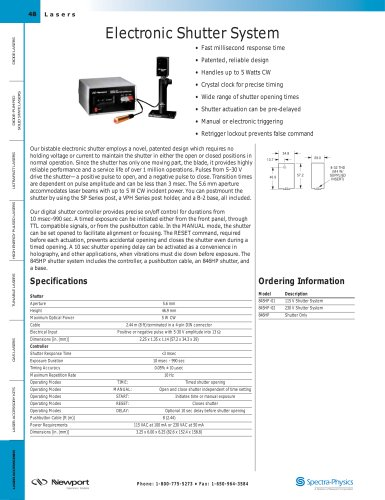 Electronic Shutter System