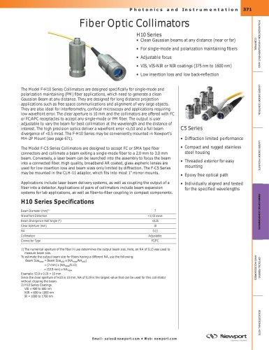 Fiber Optic Collimators