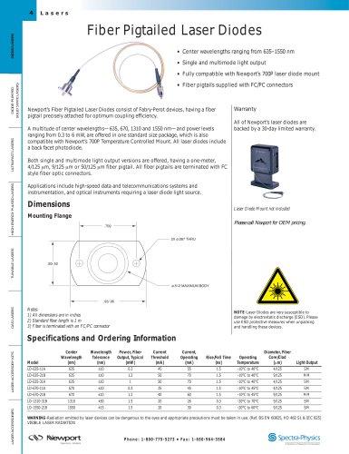 Fiber Pigtailed Laser Diode