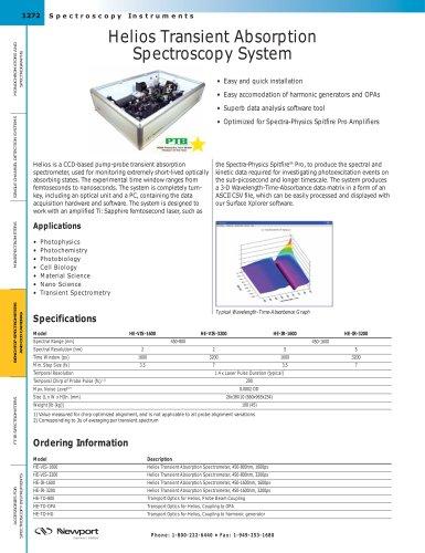Helios Transient Absorption Spectroscopy System