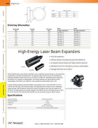 High-Energy Laser Beam Expanders