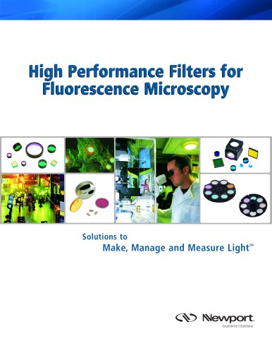 High Performance Filters for Fluorescence Microscopy