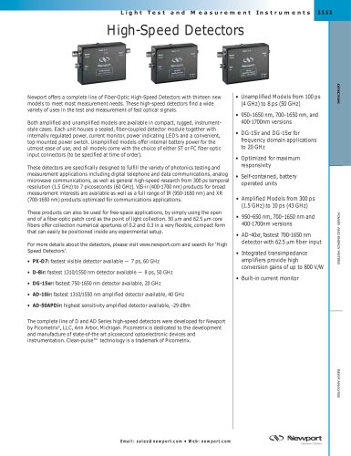 High-Speed Photodetectors, GHz
