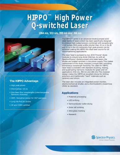 HIPPO™ High Power Q-switched Laser