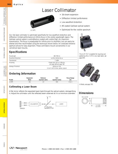 Laser Collimator