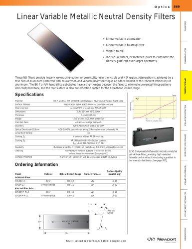 Linear Variable Metallic Neutral Density Filters