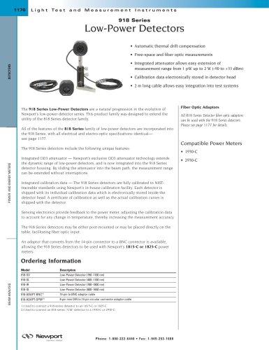 Low-Power Photo-Detectors, Legacy 918 Series