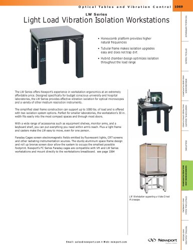 LW Series Light Load Vibration Isolation Workstations