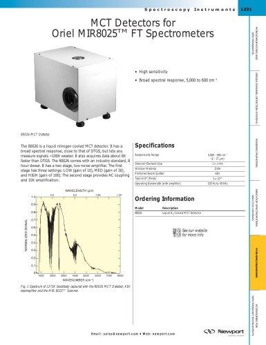MCT Detectors for Oriel MIR8025™ FT Spectrometers