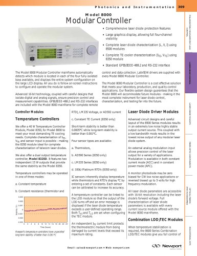 Modular Multi-Channel Laser Diode Controller, Model 8000