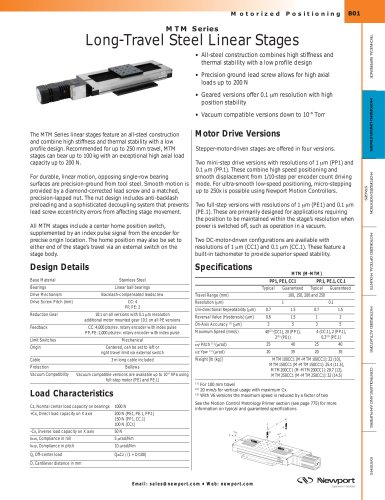 MTM Series Long-Travel Steel Linear Stages