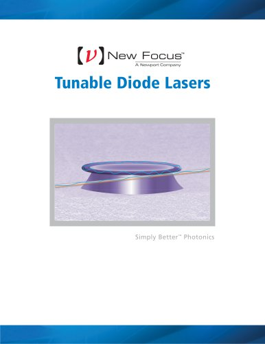 New Focus Tunable Diode Lasers Brochure