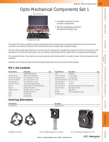 Opto-Mechanical Components Set 1