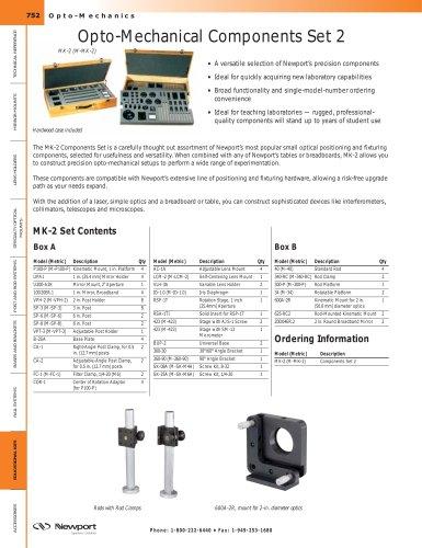 Opto-Mechanical Components Set 2