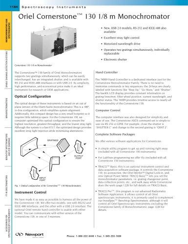 Oriel Cornerstone™ 130 1/8 m Monochromator