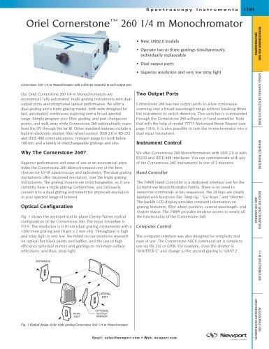 Oriel Cornerstone™ 260 1/4 m Monochromator