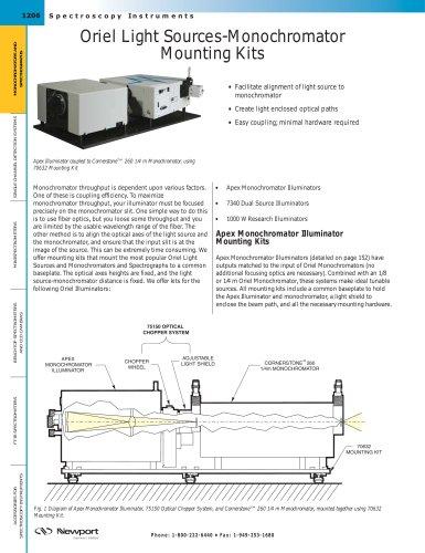 Oriel Light Sources-Monochromator Mounting Kits